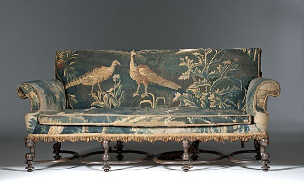56: Continental Baroque-Style Sofa