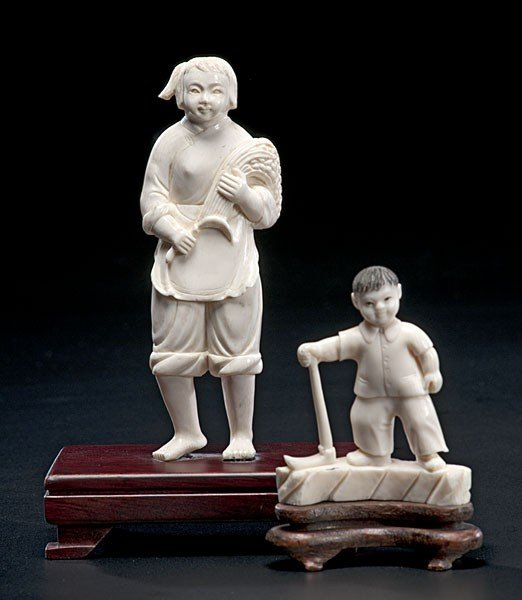 1001: Chinese Carved Ivory Cultural Revolution Figures