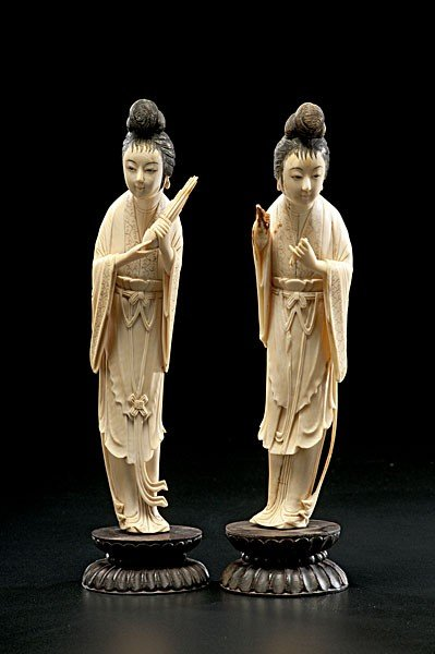 1003: Chinese Carved Ivory Figures