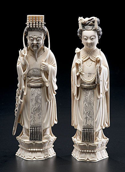 1008: Chinese Carved Ivory Immortals