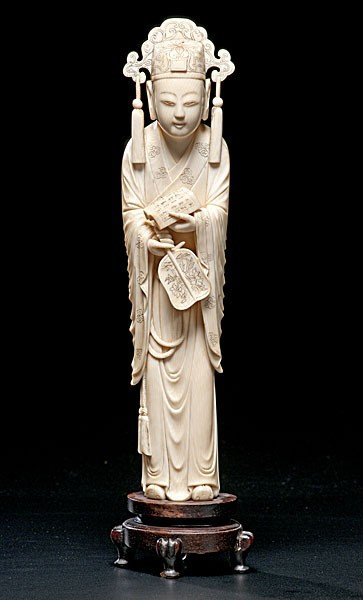 1009: Chinese Carved Ivory Scholar