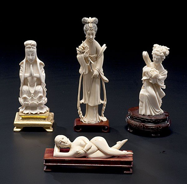 1010: Chinese Carved Ivory Figures