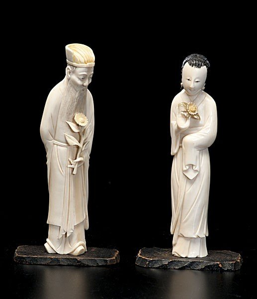 1023: Chinese Carved Ivory Figures