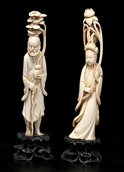 1024: Chinese Carved Ivory Immortal Figures