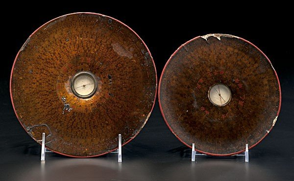 1406: Lacquered Chinese Compasses/Luopans