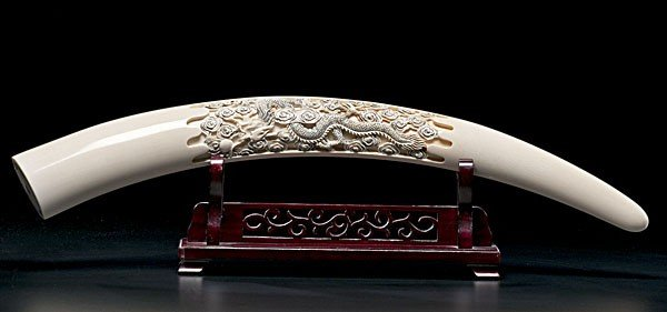 1424: Chinese Carved Ivory Tusk