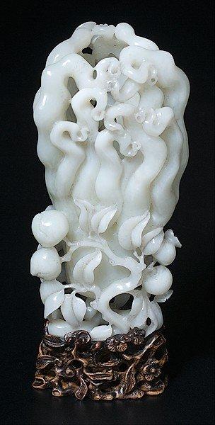 1456: Chinese White Jade Vase