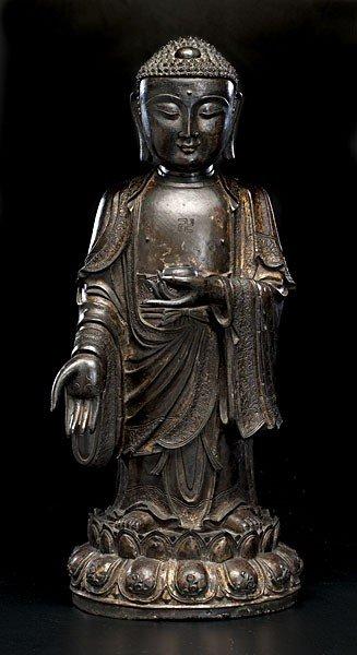 1503: Chinese Bronze Standing Buddha