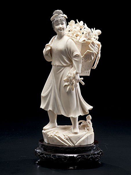 1622: Chinese Carved Ivory Cultural Revolution Figure