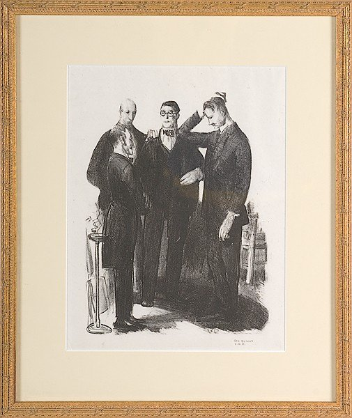 12: Four Friends by George Bellows, Lithograph