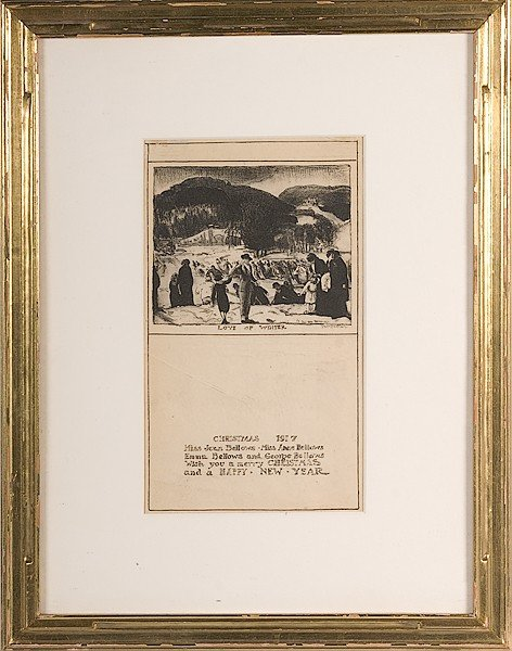 14: Christmas Card by George Bellows, Lithograph