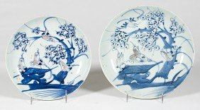 Chinese Blue And White Plates�