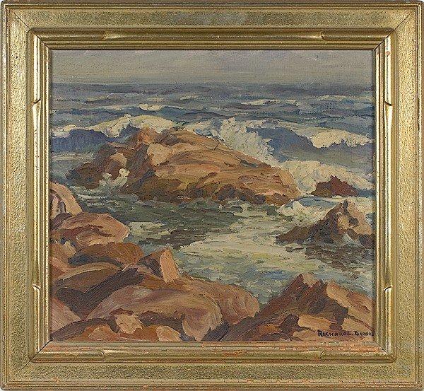 331: Seashore by Richard L. Brooks, Oil on Canvas