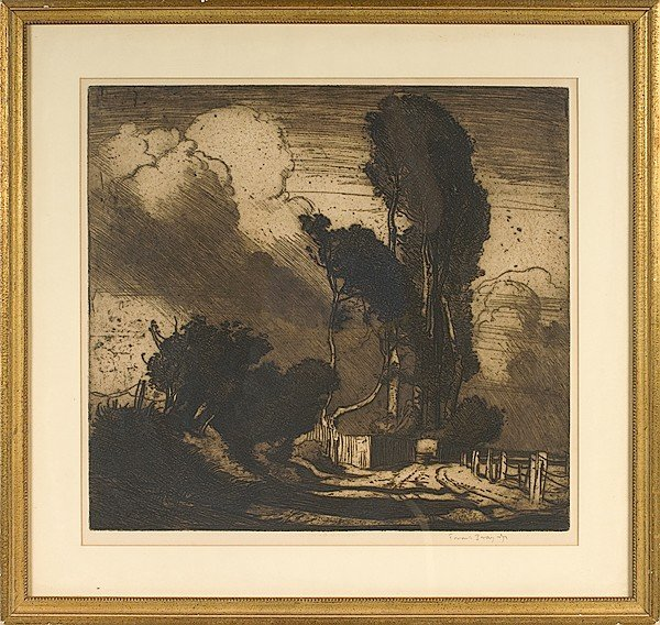 667: Landscape by Frank Brangwyn, Lithograph
