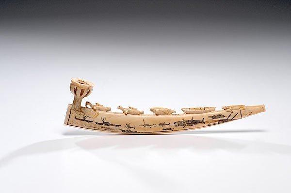 10: Eskimo Walrus Ivory Carved Pipe