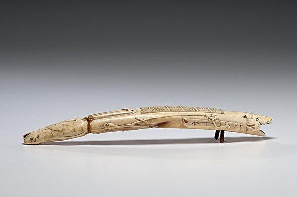 11: Eskimo Nunivak Island Walrus Ivory Cribbage Board