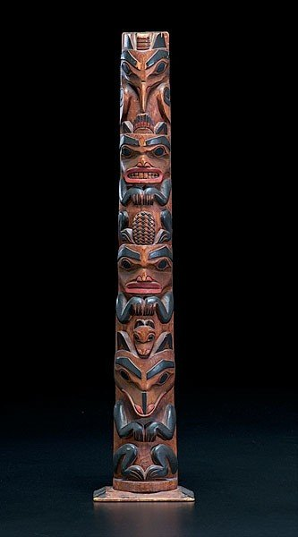 15: Haida Carved and Painted Totem Pole
