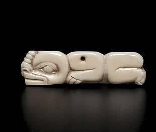 Tlingit Shaman's Walrus Ivory Charm