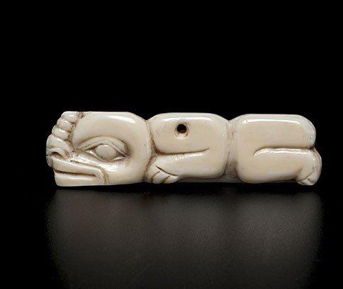 18: Tlingit Shaman's Walrus Ivory Charm