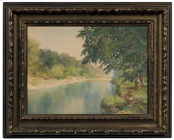 1: Landscape by William T. Hunleigh, Watercolor