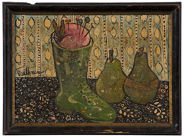 5: Still Life with Boot and Pears by Henry Faulkner, Oi