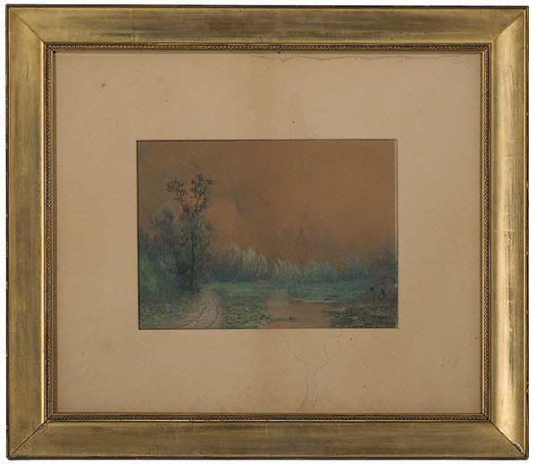 7: Landscape by Robert Burns Wilson, Watercolor