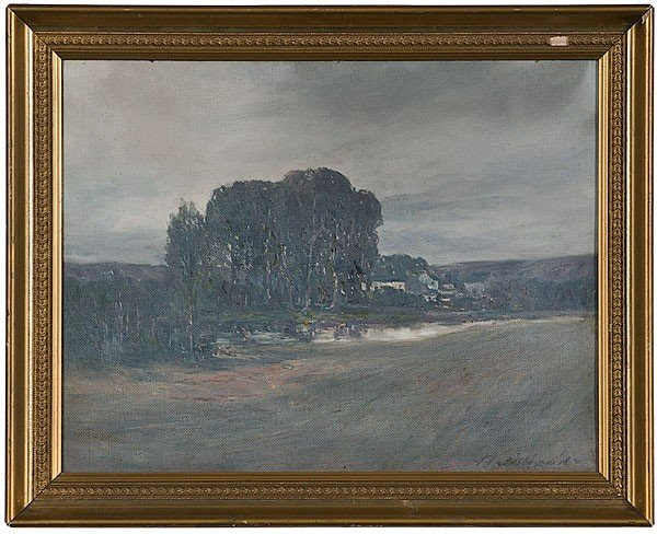 9: Kentucky Farmstead by Thomas J. Willison, Oil/Board
