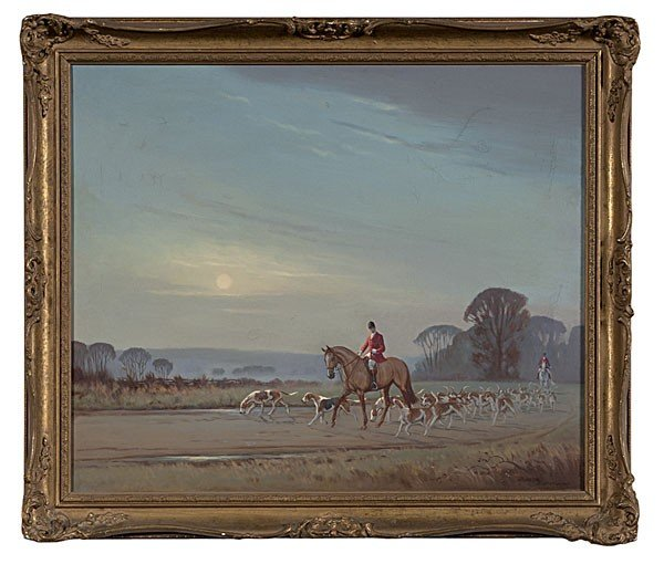 13: Fox Hunting Scene by Ninetta Butterworth, O/C