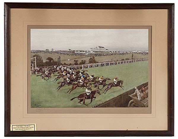 15: The Derby by Cecil Aldin, Lithographs