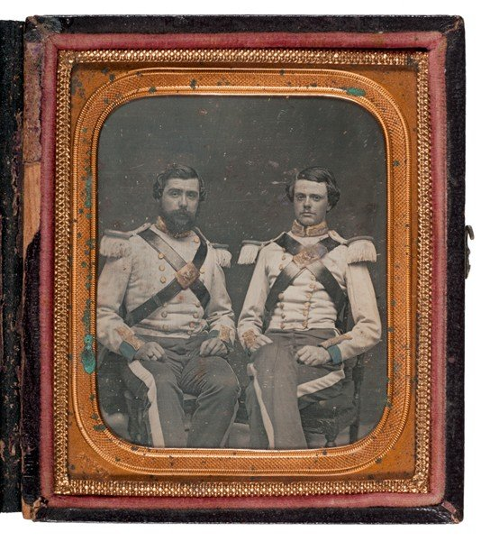 3: 6th Plate Daguerreotype of 12th NYSM Pards by Anson