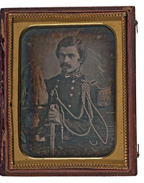 4: Quarter Plate Daguerreotype of a Militia Officer