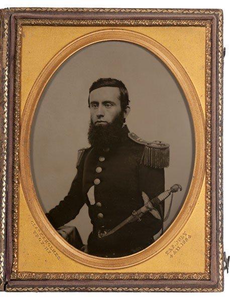5: Half Plate Ambrotype of a Civil War Captain, NY Vols