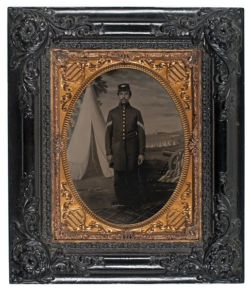 7: Civil War Half Plate Tintype of a Union Corporal