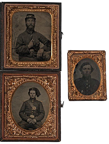 9: Sixth Plate Tintype Portraits of NY Infantrymen