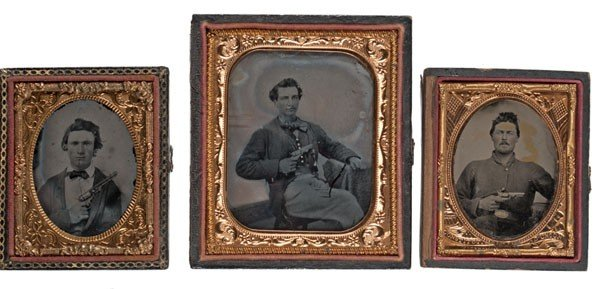 10: Ambrotypes of Men Armed with Colt Revolvers