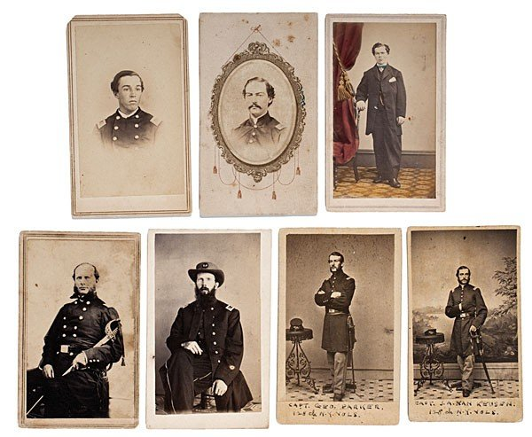 21: Group of Seven Indentified 128th NY CDVs