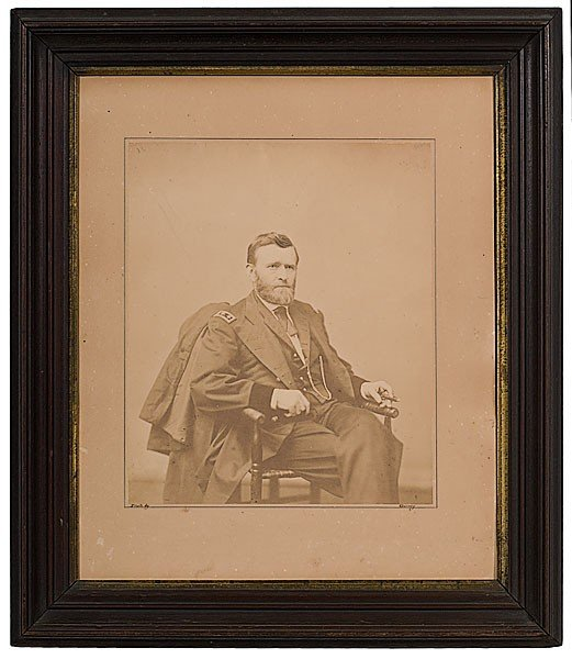25: U.S. Grant Large Salted Paper Photograph by Gurney