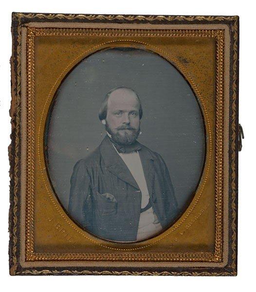 116: George Steck, Famous Piano Maker, Daguerreotype
