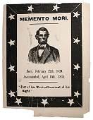 184: Abraham Lincoln Woodcut Memento Mori