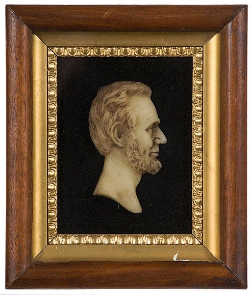 206: Abraham Lincoln Wax Profile Bust