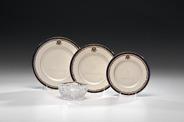 216: Assorted Plates From Franklin D. Roosevelt White H