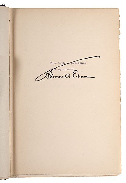 230: Thomas Edison & Assistant, Frank Dyer, Signed Book - 2