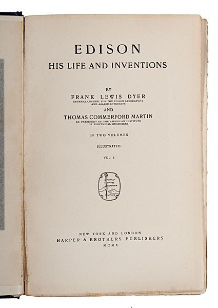 230: Thomas Edison & Assistant, Frank Dyer, Signed Book - 3