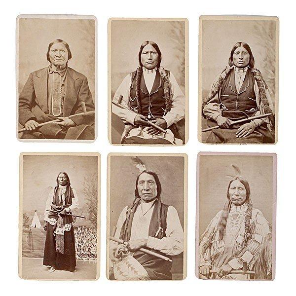 298: Rare Mitchell & Hillers American Indian CDV Album