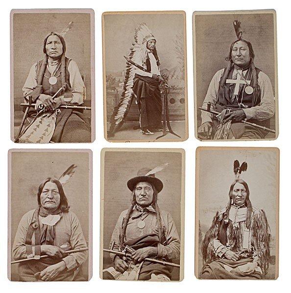 298: Rare Mitchell & Hillers American Indian CDV Album - 2