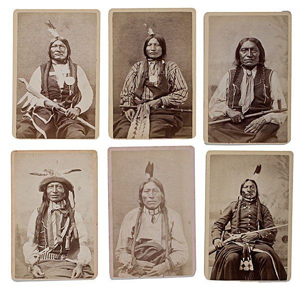 298: Rare Mitchell & Hillers American Indian CDV Album - 3