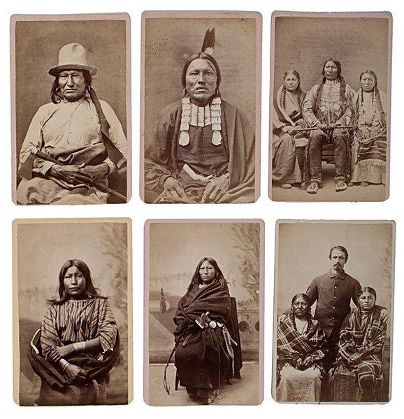 298: Rare Mitchell & Hillers American Indian CDV Album - 4