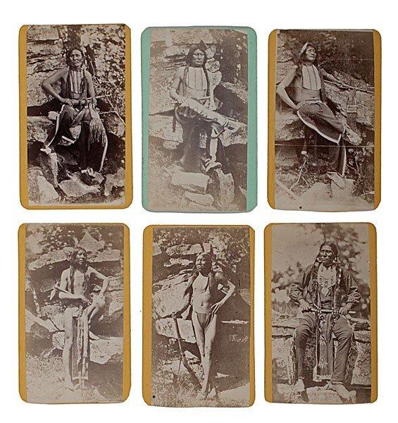 298: Rare Mitchell & Hillers American Indian CDV Album - 5