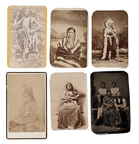 298: Rare Mitchell & Hillers American Indian CDV Album - 6