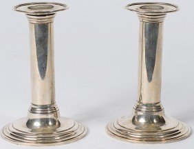 25: Tiffany & Co. Sterling Candlesticks